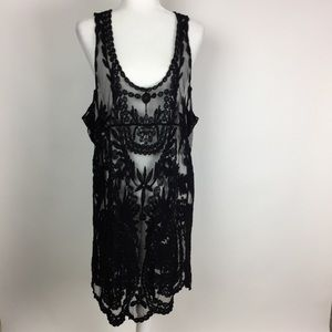 Simply Couture Black Sheer Dress Size L